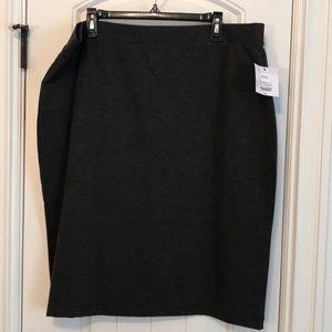 Liz Claiborne Gray Stretch Skirt